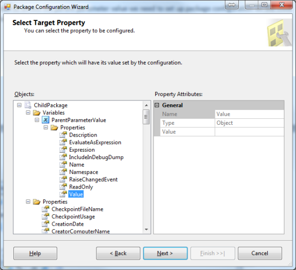Package Configuration Wizard Step 2